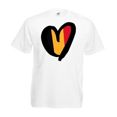 Belgium Heart T-shirt - Flag Football Eurovision Party Contest 2019 Gift Top