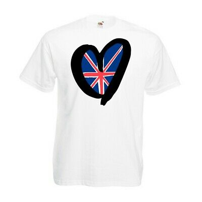 UK Heart T-shirt - Flag United Kingdom Eurovision Party Contest 2019 Gift Top