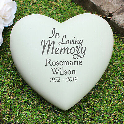 Personalised In Loving Memory Heart Memorial, Name and Date, Grave, Remembrance
