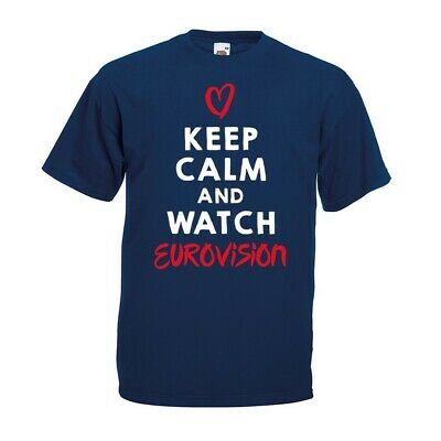 Keep Calm Watch Eurovision T-shirt - Song Love Party Contest 2019 Gift Top