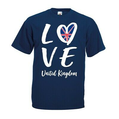 Love United Kingdom T-shirt Eurovision Party Song Contest 2019 UK Rice Gift Top