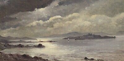 Mrs Doubleday, Seascape by Moonlight - Late 19th-century oil painting