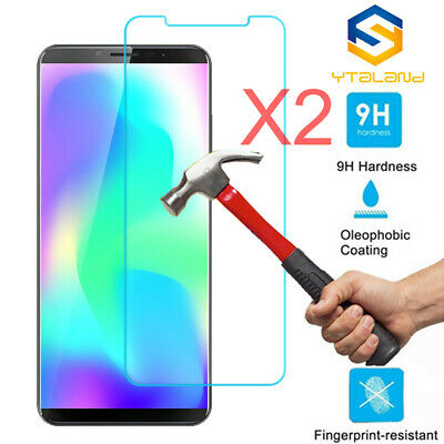 2Pcs 9H Clear Premium Tempered Glass Screen Protector Cover Film For Cubot X19