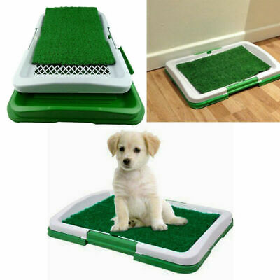 Small Pet Dog Puppy Toilet Mat Indoor Restroom Training Grass Potty Pad Loo Tray