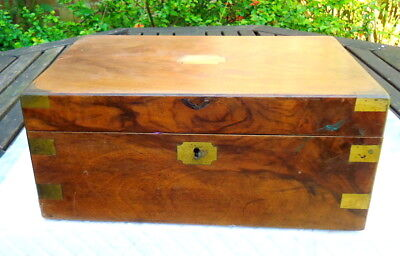 """WILLIAM IV"" Writing Slope with Two Secret Drawers & Brass Inlays. Mahogany"