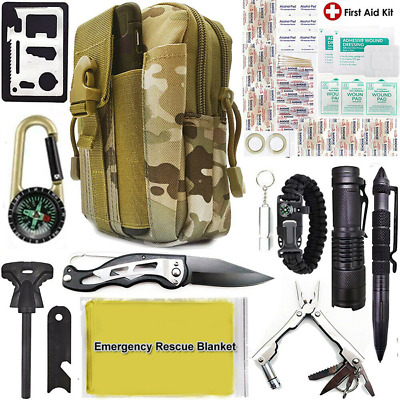 CAMPING 14IN1 OUTDOOR Military First Aid Survival Kit Tool