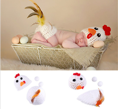 Chick Cute Newborn Baby Girl Boy Crochet Knit Costume Photo Photography Prop