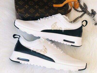 a477106f40c287 WMNS Nike Air Max Thea White   Black Weiss mit Swarovski Elements Luxus  Sneaker