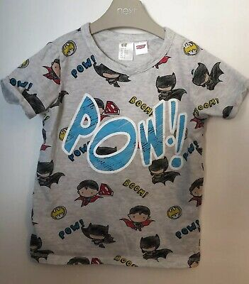Boys Age 18-24 Months - H&M T Shirt Top - Batman/ Superman Pow 💥