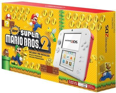 Nintendo 2DS Super Mario Bros. 2 Console Bundle - Scarlet Red