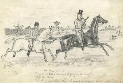After John Leech, No Consequence Horse Riding Cartoon –Late 19th-century drawing