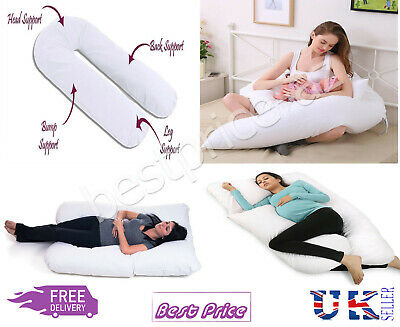 New 9ft U Shaped Pillow - Total Body Comfort Ideal for Pregnancy & Maternity Use