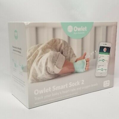 Owlet Smart Sock 2 Baby Heart Rate & Oxygen Level Health Monitor NIB
