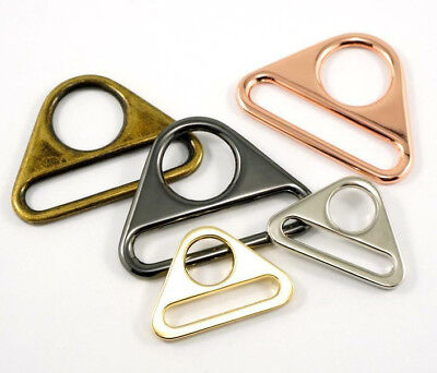"""Emmaline Triangle rings 1"""" / 25mm - range of finishes - for bags & crafts 2pk"""