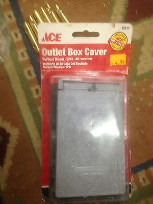 New, ACE Outlet Box Cover #32617 Vertical Mount All Weather, Gray