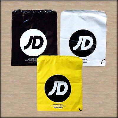 JD Sports Duffle Bag Drawstring BLACK / Yellow / WHITE - Buy 1 or 3 NEW CHEAPEST