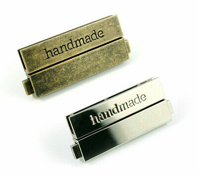 Large Bar Lock by Emmaline Bags - 'handmade' lettering - clasp for bag making