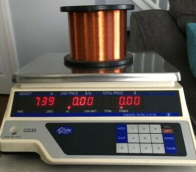 Used Roll 39 S RED (106) Copper Wire SHELHAV POLYON 155  7.39 LBS.
