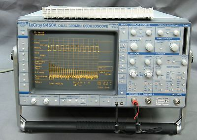 LECROY 9450A 300MHz Digital Oscillocope w/ all options, refurb tested good