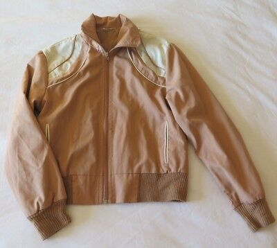 96bb6001fca71 Vintage Women s Light Jacket Small Peach Brown White Rockabilly Retro 50 s  60 s