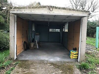 Large Sectional Concrete Garage