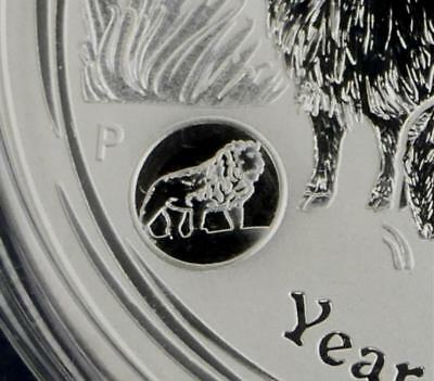 2015 1 Ounce .999 Silver Australia Year of the Goat Lunar Dollar with Lion Privy
