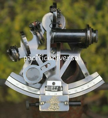 "4""Nautical Brass Sextant Antique Maritime Ship Sextant Kelvin & Hughes Astrolabe"