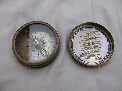 Other Beatles Memorabilia Music Memorabilia Old Vintage The Beatles Round Brass Compass From England 1965