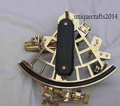 Nautical Shiny Brass Sextant Vintage Marine Working Astrolabe Ship Navigation 9""