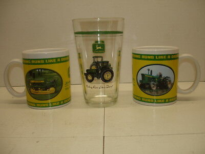 Pair Ofjohn Deere Coffee Mugs & Tumbler