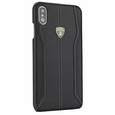 Lamborghini Huracan D1 Genuine Leather Back Сase Cover for iPhone XS Max Black