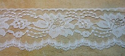 50 Yards WHITE 3 Inch In Wide Lace NEW