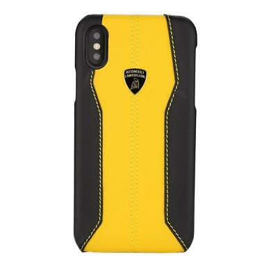 Lamborghini Huracan D1 Genuine Leather Back Сase Cover for iPhone XS Max Yellow