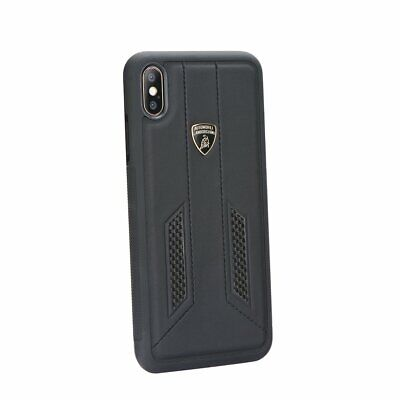 Lamborghini Huracan D6 Genuine Leather Back Сase Cover for iPhone XS Max Black