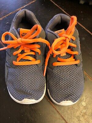 new styles 8fccb 9a9cb Youth Boys Nike Kaishi Mesh Running Shoes Grey Orange Size 12 C