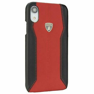 Lamborghini Huracan D1 Genuine Leather Back Сase Cover for iPhone XR Red