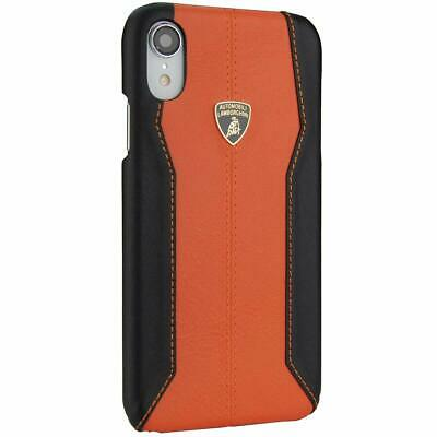 Lamborghini Huracan D1 Genuine Leather Back Сase Cover for iPhone XR Orange