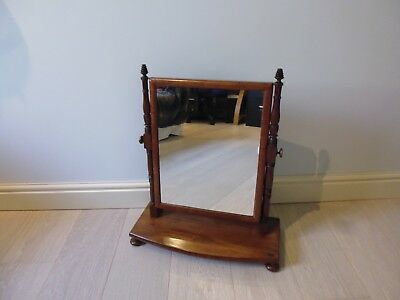 George Iii Mahogany Dressing Table Mirror In Very Good Condition