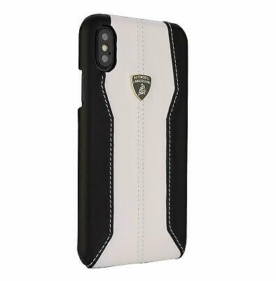 Lamborghini HURACAN D1 Leather Back Сase Cover for iPhone X, iPhone Xs White
