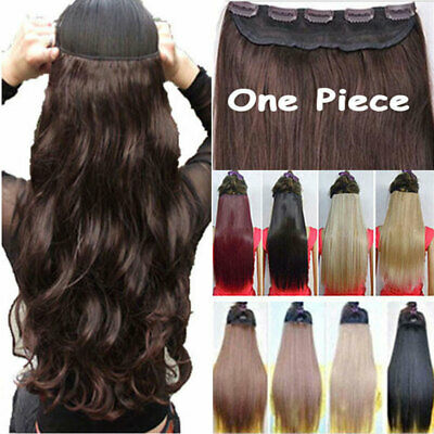 Mega Thick One Piece Clip In Hair Extensions Straight Wavy Real For Human mckyh