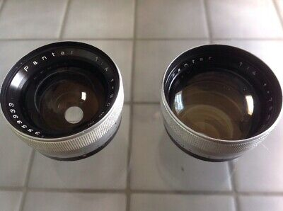 Pair Of Zeiss Pantar Vintage Camera Lenses.30mm and 75mm.GERMANY