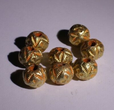 10 X Post Medieval Gold Beads - No Reserve 0112211