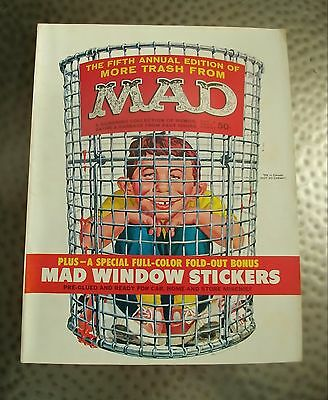 Vintage More Trash from Mad, Fifth Annual Edition, Plus Mad Window Stickers, VF-