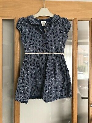 Next girls navy ditsy summer playsuit age 3-4 years