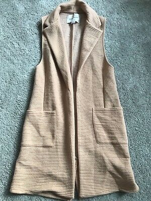 Pretty girls long river island sleeveless jacket/gilet 9-10 years