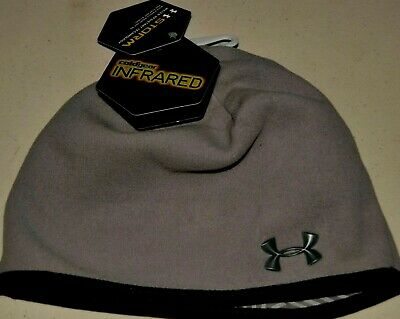 0f152375db2 new Women s Under Armour Storm Coldgear Infrared Fleece Beanie Hat Gray