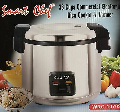 Heavy duty 33cups (66Cups Cooked) Stainless Steel NonStick Rice Cooker/warmer