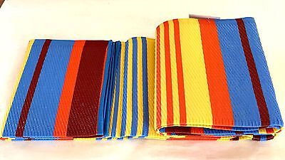 2 Pack 5 X7 Plastic Straw Outdoor Rug Patio Rv Mat Camping