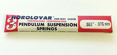 HOROLOVAR 400 DAY CLOCK TEMPERATURE COMPENSATING SUSPENSION SPRING WIRE .076mm