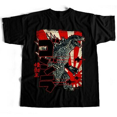 Godzilla Japanese Chinese Film Movie Creature Horror Sci Fi Classic 2 T Shirt